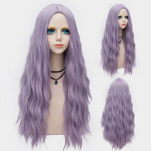 Latest Long Middle Part Fluffy Water Wave Synthetic Party Wig LARKSPUR