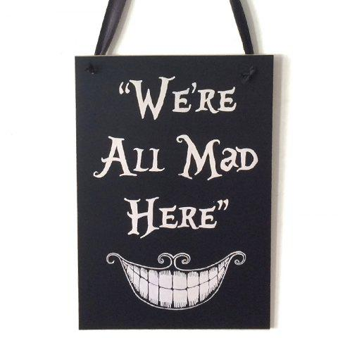 Fancy Halloween Smile Pattern Door Decor Wooden Hanging Sign BLACK