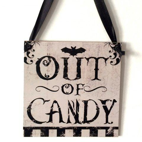 Buy Halloween Candy Pattern Door Decor Wooden Hanging Sign