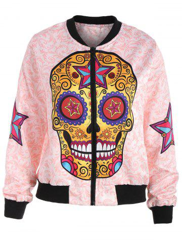 Shops Halloween Skull Star Printed Jacket - XL COLORMIX Mobile