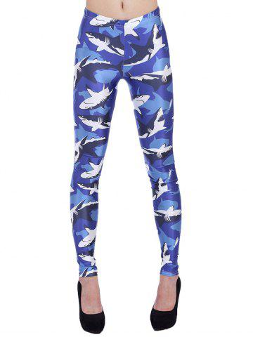 Outfits Skinny 3D Sharks Print Leggings