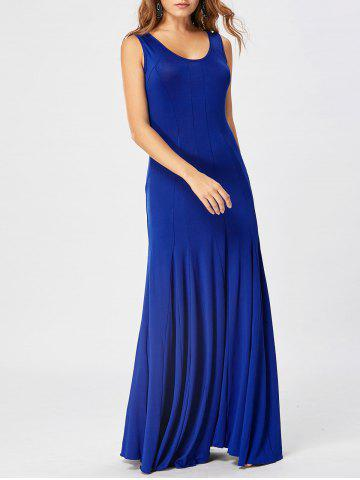 Tank Maxi A Line Dress Bleu 2XL