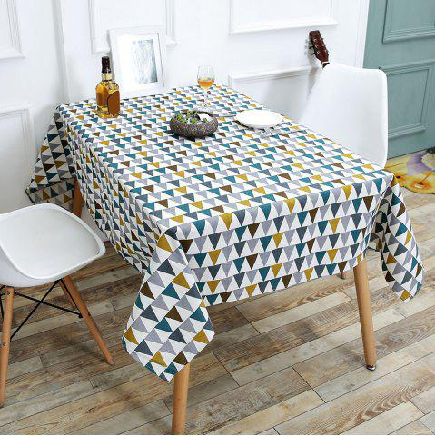 Trendy Triangle Printed Linen Table Cloth - W55 INCH * L71 INCH COLORFUL Mobile