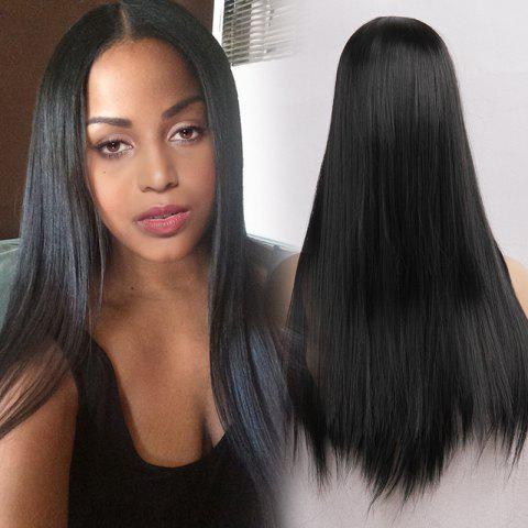 Fashion Long Center Parting Straight Heat Resistant Synthetic Wig