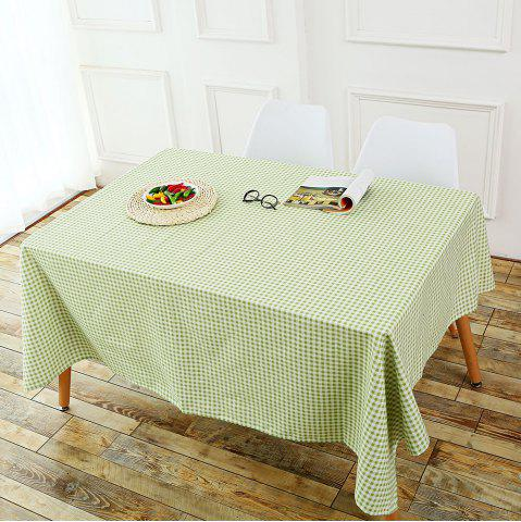Cheap Plaid Printed Linen Table Cloth - W55 INCH * L55 INCH GREEN Mobile