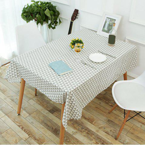 New Linen Geometric Pattern Table Cloth - W55 INCH * L71 INCH GRAY Mobile