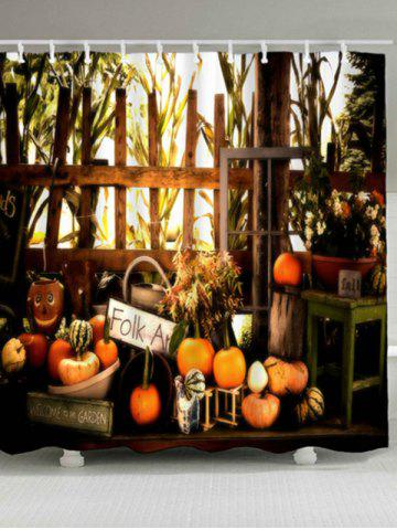 Unique Waterproof Pumpkin Halloween Shower Curtain COLORMIX W59 INCH * L71 INCH