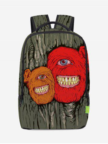 New Zips Monster Canvas Backpack