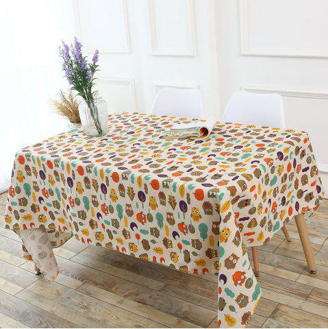 Shops Cartoon Owl Pattern Table Cloth