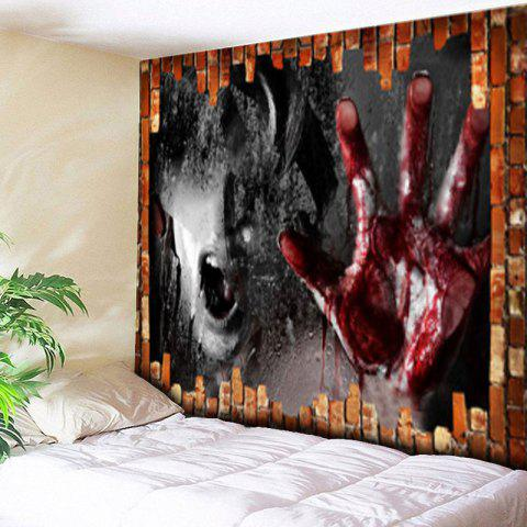 Beautiful Trendy Wall Decor Halloween Blood Hand Print Tapestry