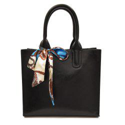 Faux Leather Scarf Knotted Handbag -