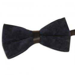 Multicolor Corduroy Bow Tie - PURPLISH BLUE