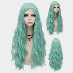 Long Middle Part Fluffy Water Wave Synthetic Party Wig - MINT