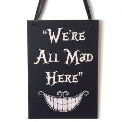 Halloween Smile Pattern Door Decor Wooden Hanging Sign - BLACK