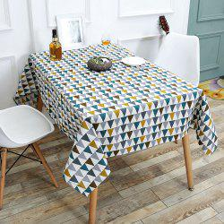 Triangle Printed Linen Table Cloth - COLORFUL W55 INCH * L55 INCH