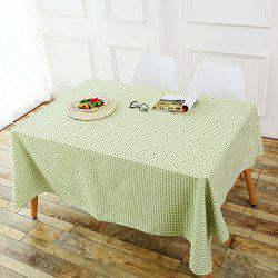 Plaid Printed Linen Table Cloth - GREEN W55 INCH * L71 INCH