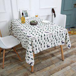 Christmas Trees Elk Pattern Table Cloth - COLORFUL W55 INCH * L71 INCH