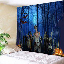 Wall Hanging Halloween Graphic Tapestry - Blue - W79 Inch * L59 Inch