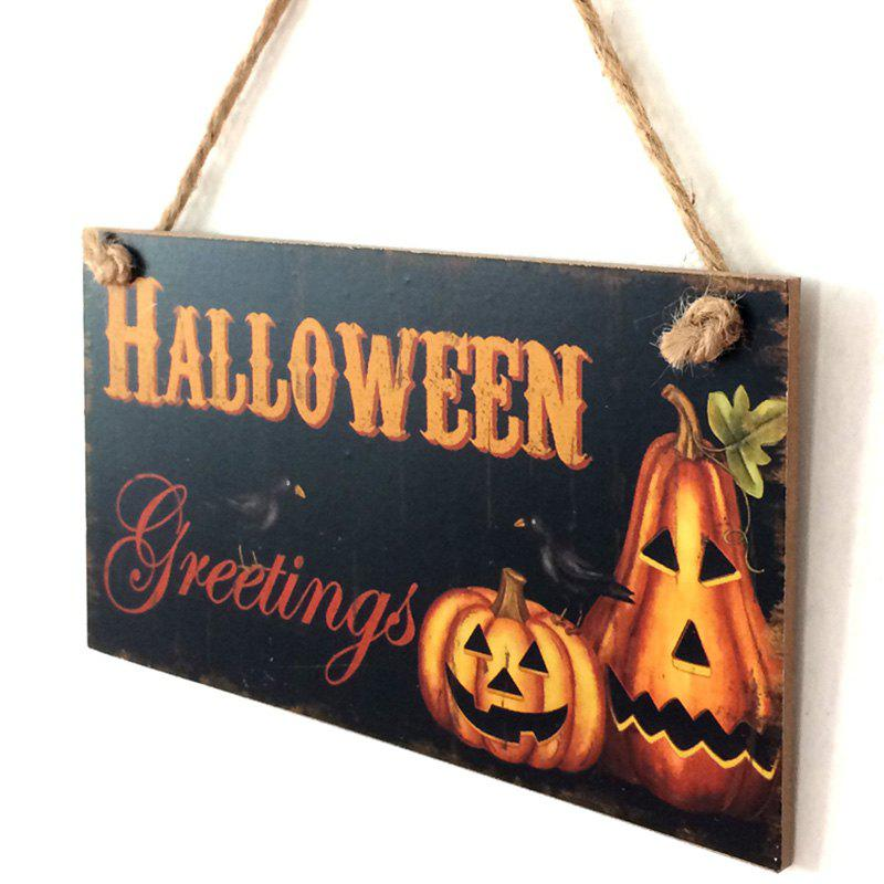 Best Halloween Pumpkin Pattern Door Decor Wooden Hanging Sign