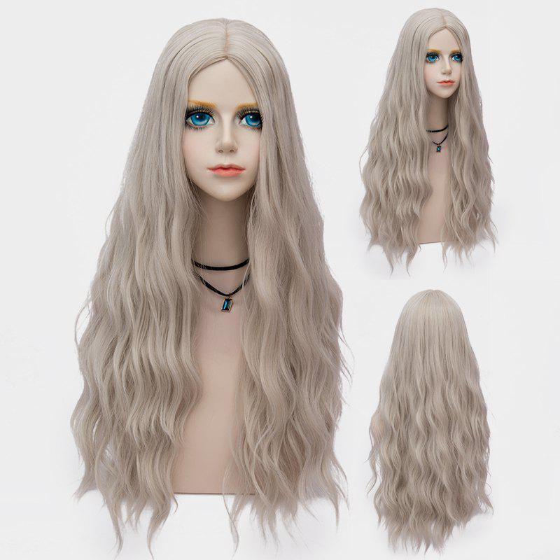 Store Long Middle Part Fluffy Water Wave Synthetic Party Wig