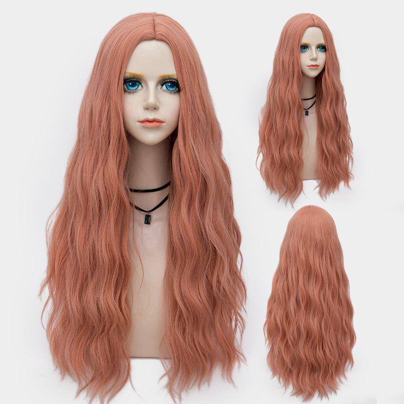 Chic Long Middle Part Fluffy Water Wave Synthetic Party Wig