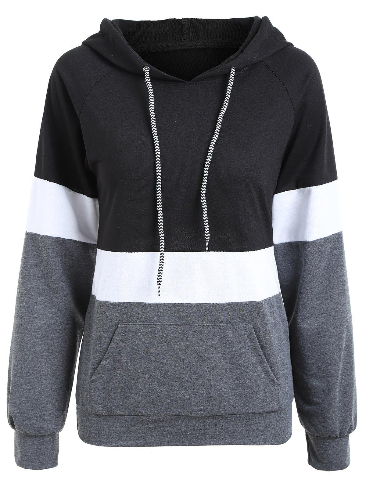 Outfits Color Block Pullover Hoodie