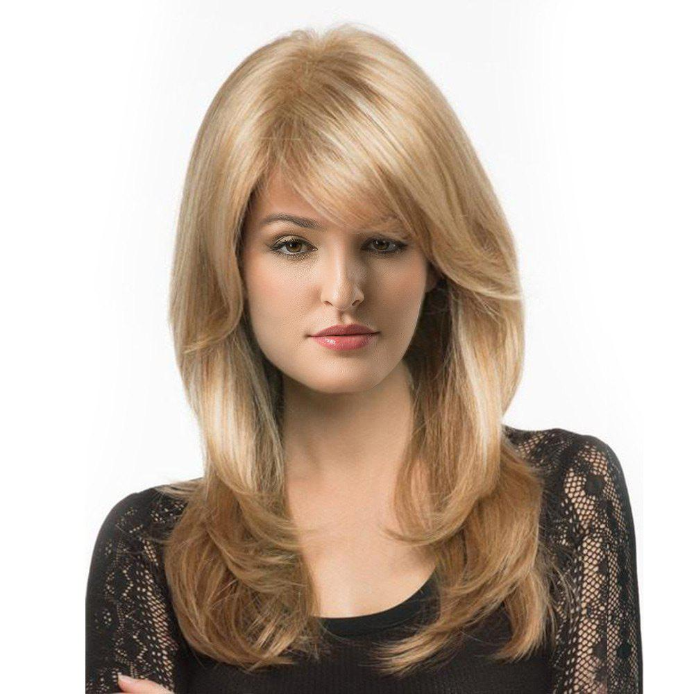 Long Side Parting Layered Shaggy Straight Synthetic WigHAIR<br><br>Size: 20INCH; Color: M27/613#; Type: Full Wigs; Cap Construction: Capless; Style: Straight; Material: Synthetic Hair; Bang Type: Side; Length: Long; Length Size(CM): 50; Length Size(Inch): 20; Weight: 0.4590kg; Package Contents: 1 x Wig;