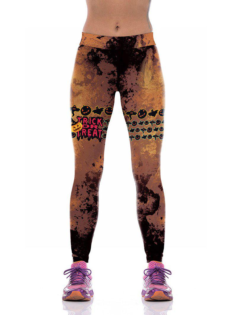 Online Halloween Ghost Pumpkin Leggings