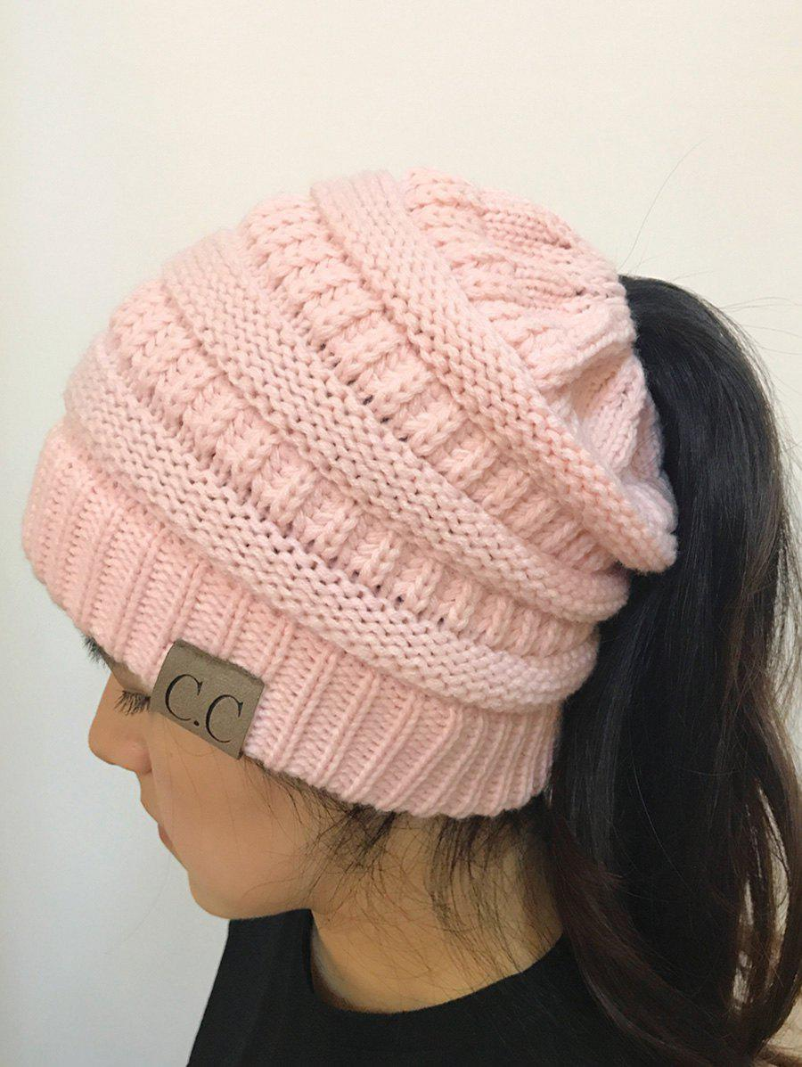 Open Top Mixcolour Knitted HatACCESSORIES<br><br>Color: PINK; Hat Type: Skullies Beanie; Group: Adult; Gender: For Women; Style: Fashion; Pattern Type: Others; Material: Acrylic; Circumference (CM): 57CM; Weight: 0.2000kg; Package Contents: 1 x Hat;