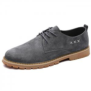 Lace Up Criss Cross Casual Shoes - GRAY 39