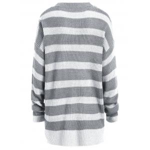 Knit Plus Size Striped Sweater -