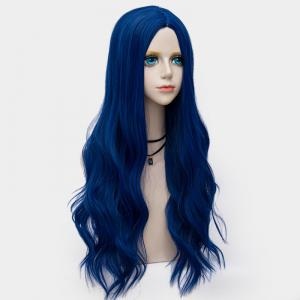 Long Layered Center Parting Wavy Synthetic Party Wig - ROYAL