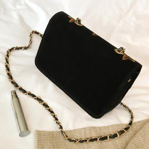 Star Embroidery Chain Crossbody Bag -