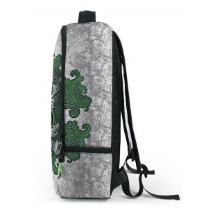 Zips Canvas Skull Backpack -