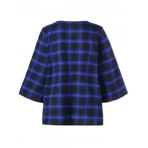 Lattice Plus Size Color Block Plaid Top - Carré XL