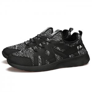 Striped Lace Up Casual Shoes - GRAY 43