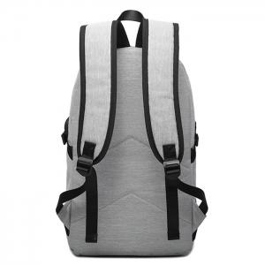 Buckle Strap USB Charging Port Zips Backpack -