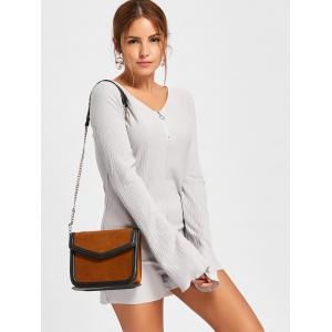 Textured Raw Hem Long Sleeve Romper -