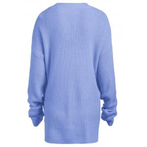 Casual Plus Size Knit Crew Neck Sweater -