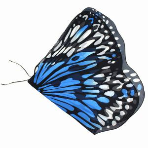 Colorful Butterfly Wings Scarf - AZURE