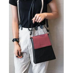 Faux Leather Embossing Color Block Handbag - WINE RED