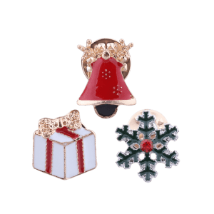 Christmas Snowflake Bell Gift Bows Brooches -
