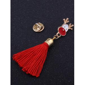 Tassel Christmas Elk Decoration Brooch -