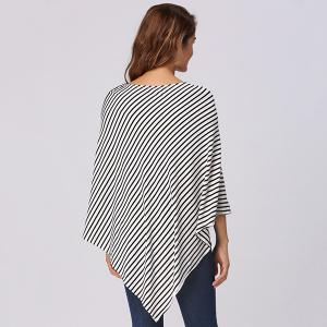 Stripe Print Nursing Cover -