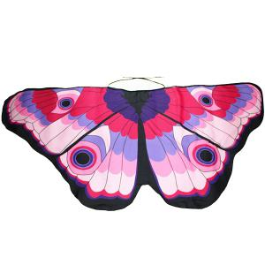 Colorful Butterfly Wings Scarf - PINK