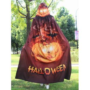 Magic Cloak with Halloween Printed - GOLDEN