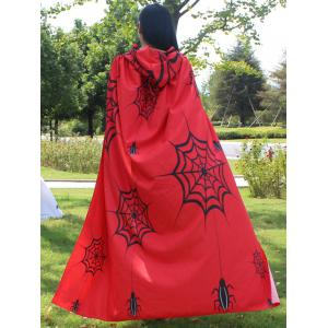 Magic Cloak with Halloween Printed - RED