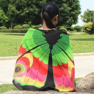 Colorful Butterfly Wings Scarf -