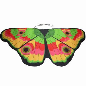 Colorful Butterfly Wings Scarf - YELLOW + GREEN