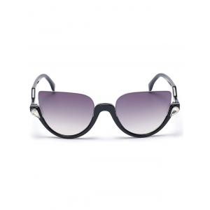 Zigzag Legs Half Frame Cat Eye Sunglasses -